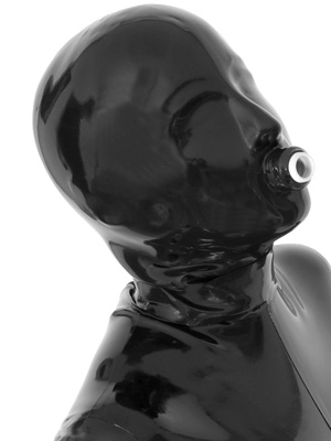 Play Kit: Thick Latex Hood with Connector & Tube & Breathing Bag
